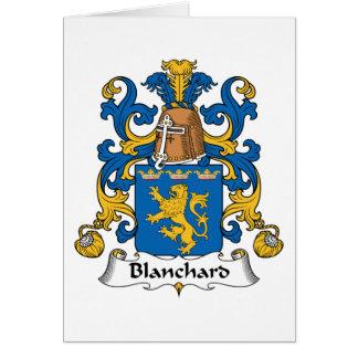 Escudo de la familia de Blanchard Felicitaciones