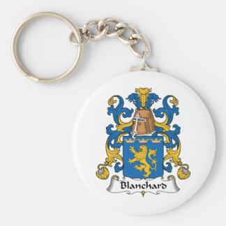 Escudo de la familia de Blanchard Llaveros Personalizados