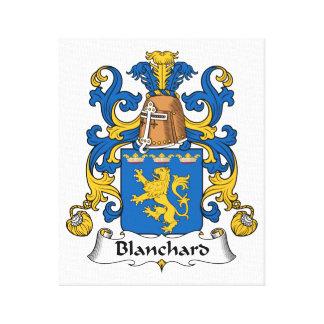 Escudo de la familia de Blanchard Lona Envuelta Para Galerías