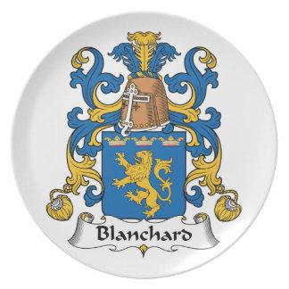 Escudo de la familia de Blanchard Plato De Cena