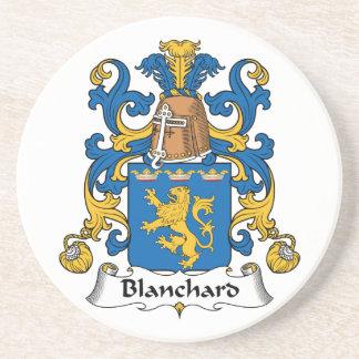 Escudo de la familia de Blanchard Posavaso Para Bebida
