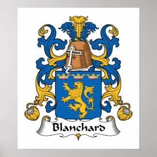 Escudo de la familia de Blanchard Póster