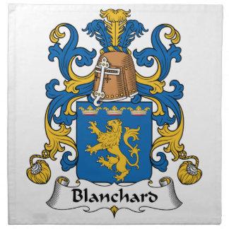Escudo de la familia de Blanchard Servilleta Imprimida