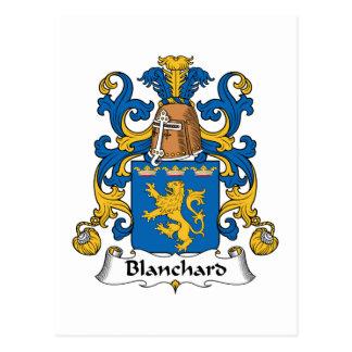 Escudo de la familia de Blanchard Tarjeta Postal