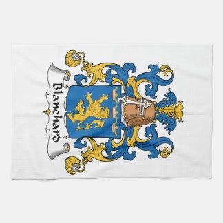 Escudo de la familia de Blanchard Toallas De Mano