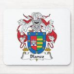 Escudo de la familia de Blanco Tapetes De Ratón