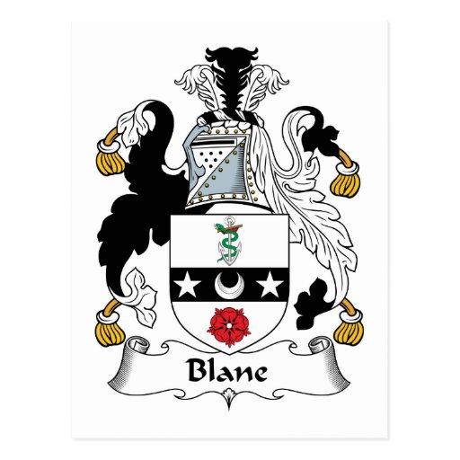 Escudo de la familia de Blane Postal