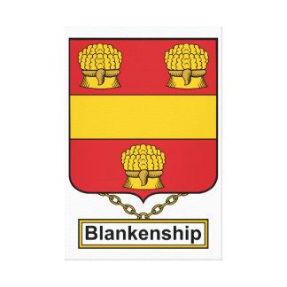 Escudo de la familia de Blankenship Impresión De Lienzo