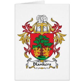 Escudo de la familia de Blankers Tarjeta De Felicitación