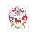 Escudo de la familia de Blasco Lienzo Envuelto Para Galerias