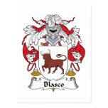 Escudo de la familia de Blasco Postales