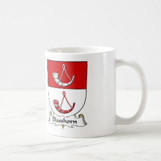 Escudo de la familia de Blasshorn Tazas