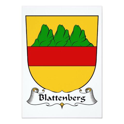 """Escudo de la familia de Blattenberg Invitación 5"""" X 7"""""""