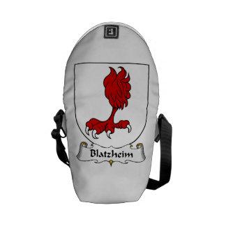 Escudo de la familia de Blatzheim Bolsas De Mensajería