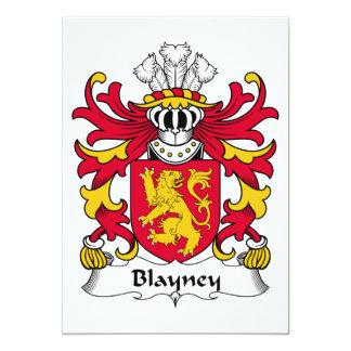 """Escudo de la familia de Blayney Invitación 5"""" X 7"""""""
