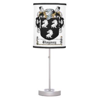 Escudo de la familia de Blayney Lámpara De Mesilla De Noche