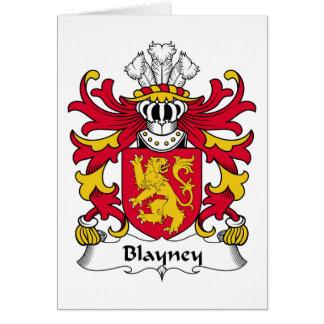 Escudo de la familia de Blayney Tarjeta De Felicitación