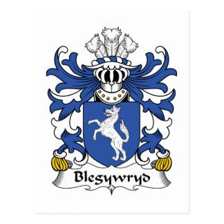 Escudo de la familia de Blegywryd Tarjeta Postal