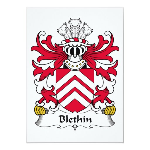 Escudo de la familia de Blethin Anuncio