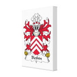 Escudo de la familia de Blethin Lienzo Envuelto Para Galerias