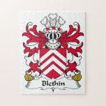 Escudo de la familia de Blethin Rompecabezas Con Fotos