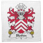 Escudo de la familia de Blethin Servilleta De Papel