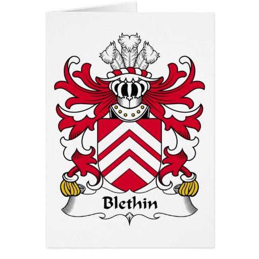 Escudo de la familia de Blethin Tarjeta De Felicitación