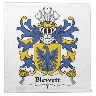 Escudo de la familia de Blewett Servilleta Imprimida