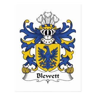 Escudo de la familia de Blewett Tarjeta Postal