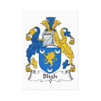 Escudo de la familia de Bligh Impresion De Lienzo