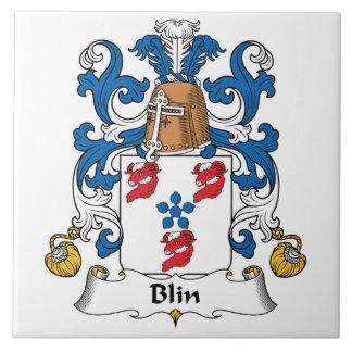 Escudo de la familia de Blin Azulejo Cuadrado Grande