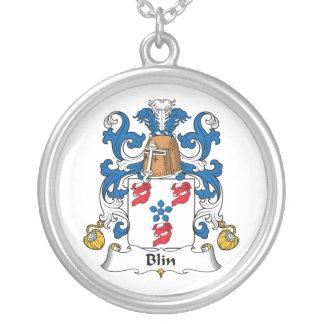Escudo de la familia de Blin Colgante Redondo