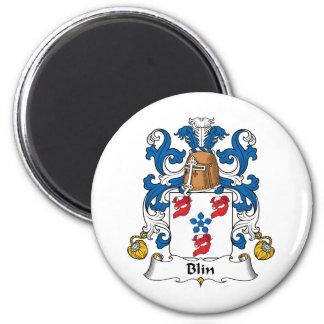 Escudo de la familia de Blin Imán Redondo 5 Cm