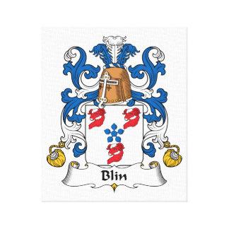 Escudo de la familia de Blin Impresiones De Lienzo