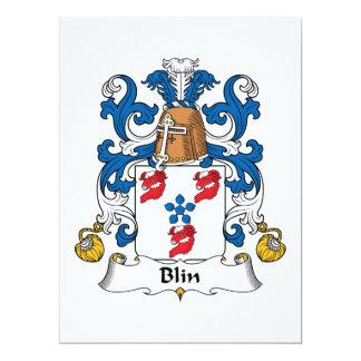"""Escudo de la familia de Blin Invitación 6.5"""" X 8.75"""""""