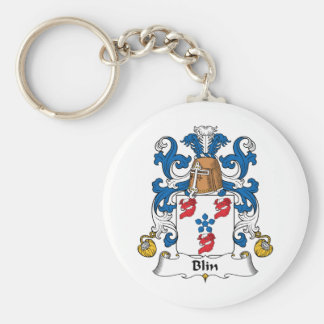 Escudo de la familia de Blin Llavero Redondo Tipo Pin