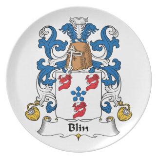 Escudo de la familia de Blin Plato