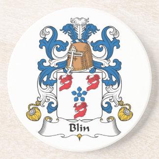 Escudo de la familia de Blin Posavasos Cerveza
