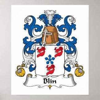 Escudo de la familia de Blin Póster