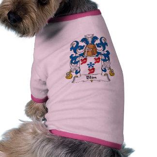 Escudo de la familia de Blin Camiseta Con Mangas Para Perro