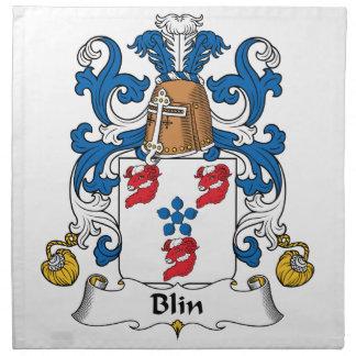 Escudo de la familia de Blin Servilletas De Papel
