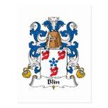 Escudo de la familia de Blin Tarjetas Postales