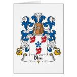 Escudo de la familia de Blin Tarjeton