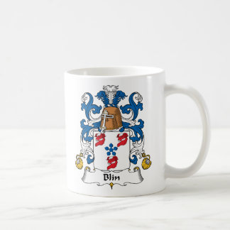 Escudo de la familia de Blin Taza Básica Blanca