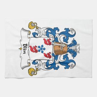 Escudo de la familia de Blin Toallas De Mano