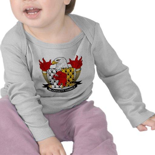 Escudo de la familia de Blodgett Camisetas