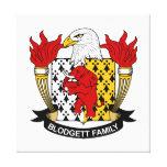 Escudo de la familia de Blodgett Impresión En Lienzo Estirada