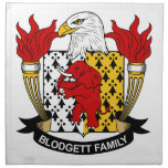 Escudo de la familia de Blodgett Servilletas Imprimidas