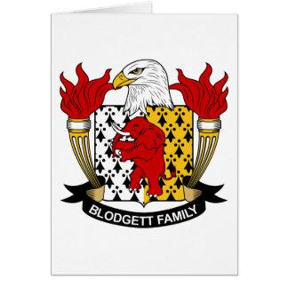 Escudo de la familia de Blodgett Tarjeta De Felicitación
