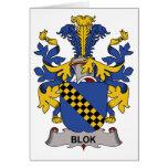 Escudo de la familia de Blok Felicitacion